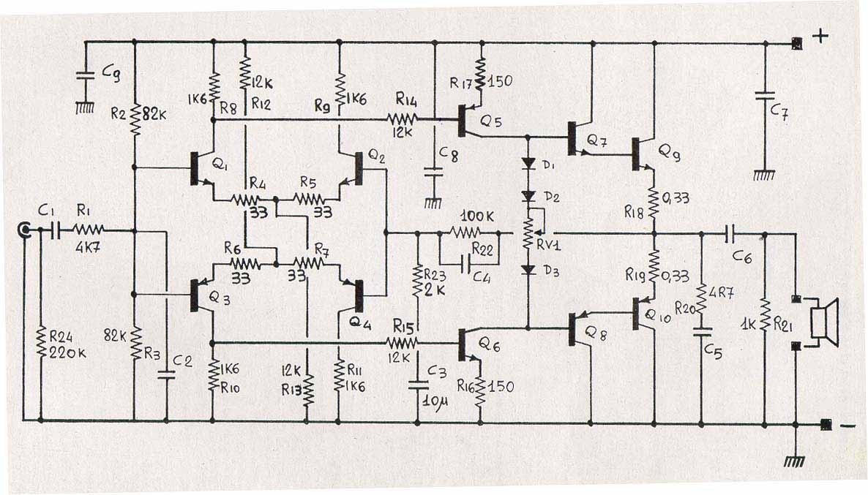 Schemi Elettrici Amplificatori Audio Con N : Diofaidate leggi argomento ricordando il